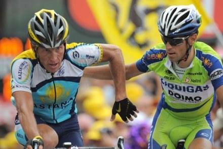 Z lewej Lance Armstrong /AFP