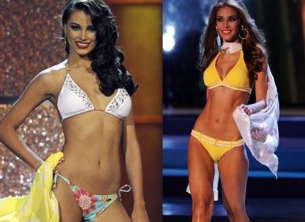 Z lewej: Miss Universe 2009 Stefania Fernandez, z prawej: Miss Universe 2008 Dayana Mendoza /AFP
