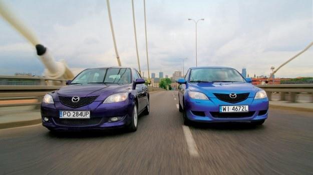 Z lewej strony - Mazda 3 2.0+LPG, z prawej - Mazda 3 1.6. /Motor