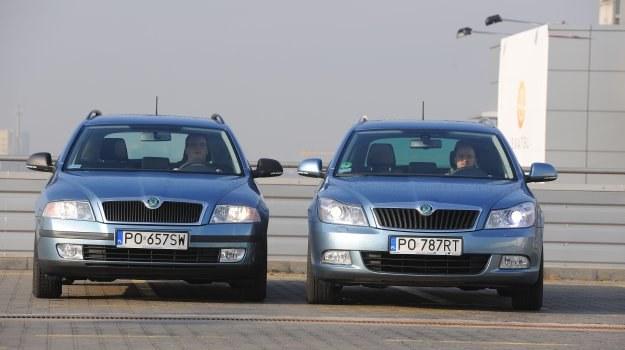 Z lewej strony - Skoda Octavia II przed liftingiem (2004-2008), z prawej - Skoda Octavia II po liftingu (2008-2013). /Motor
