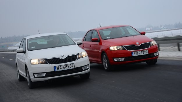 Z lewej strony - Skoda Rapid 1.2 TSI 105 Ambition, z prawej - Rapid 1.2 TSI 85 Elegance. /Motor
