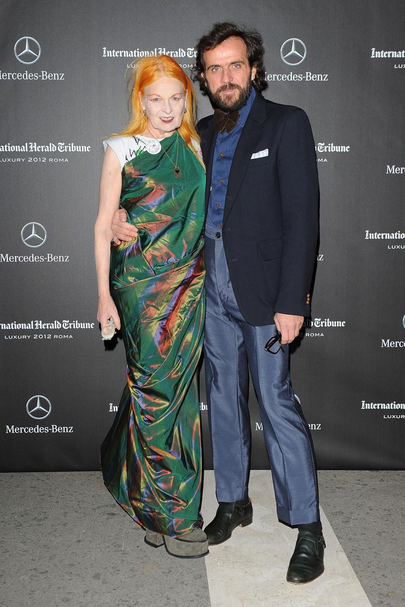 Z mężem Andreasem Kronthalerem, młodszym o 25 lat. – O co tyle hałasu? – pyta Vivienne /Getty Images/Flash Press Media