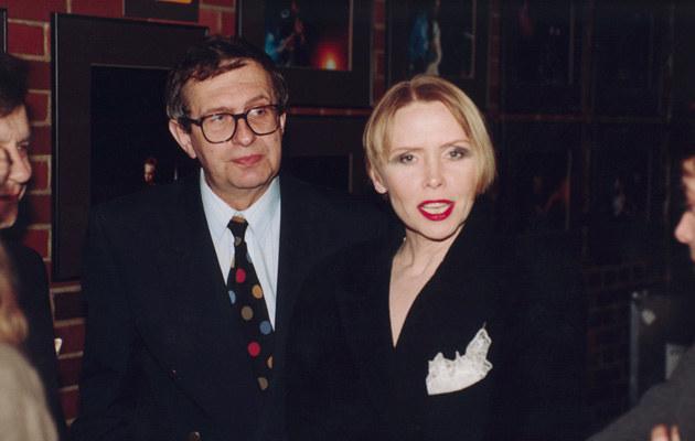 Z mężem Jackiem Janczarskim, 1996, fot.Żyburtowicz  /AKPA