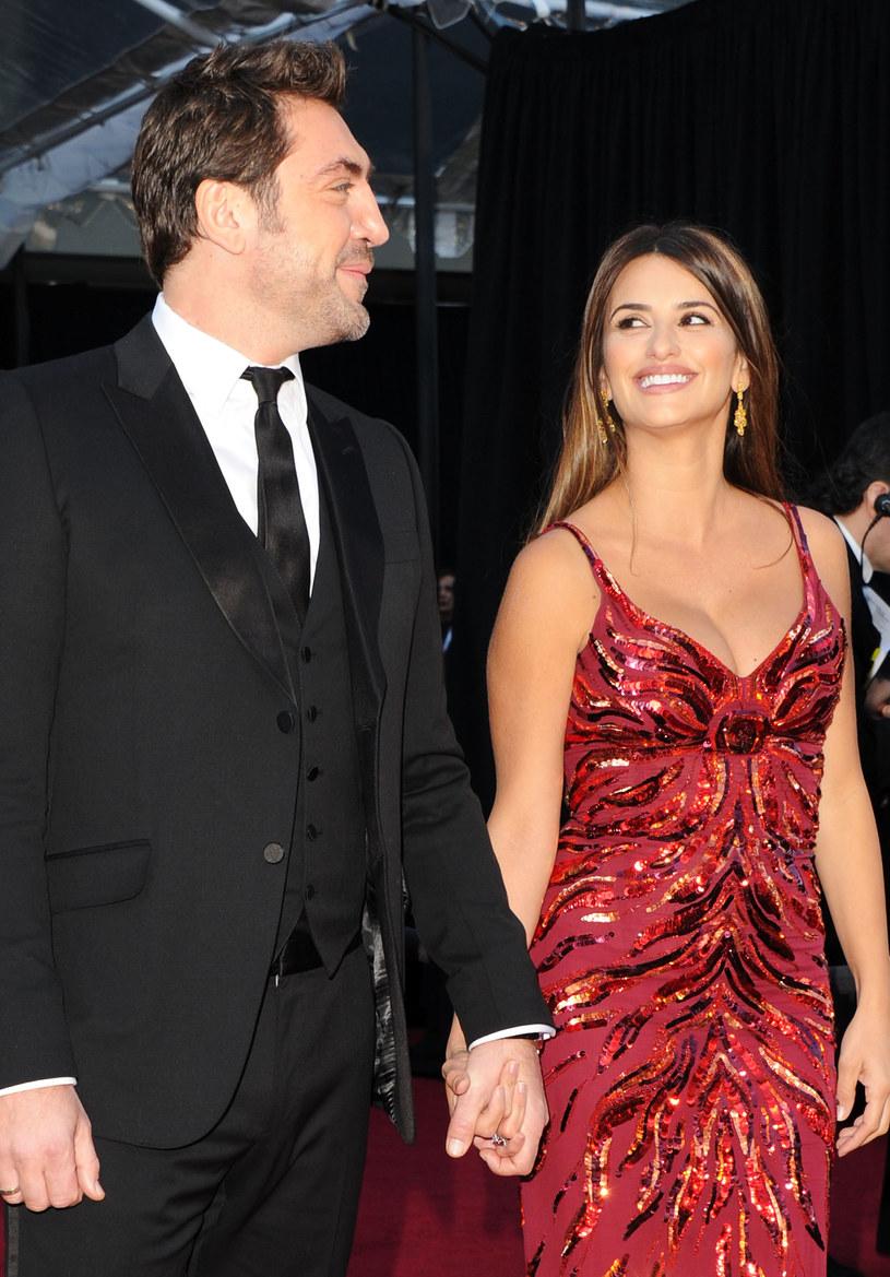 Z mężem, Javierem Bardemem  /Getty Images/Flash Press Media