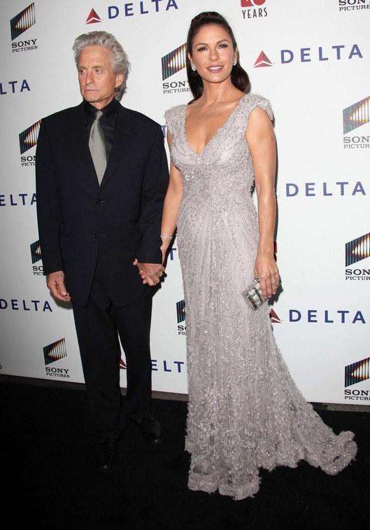 Z mężem Michaelem Douglasem  /East News