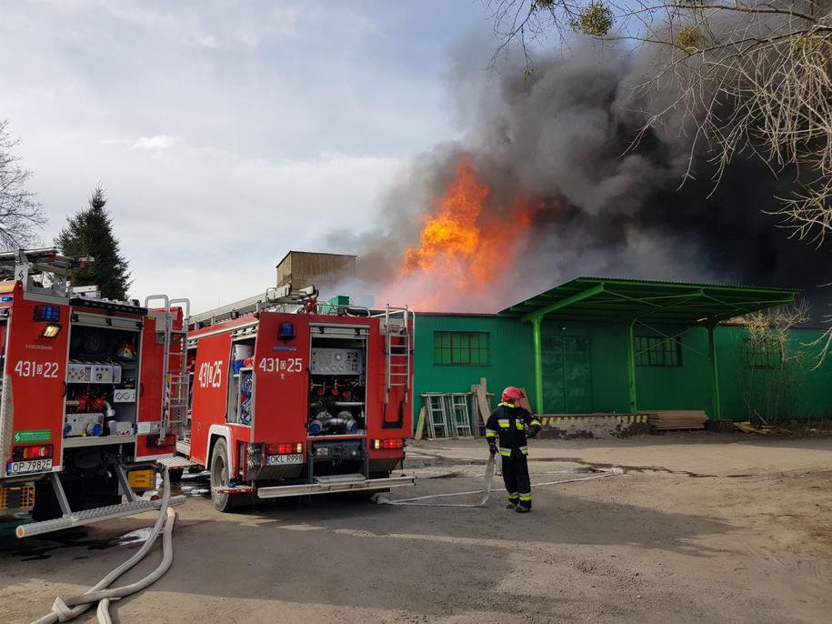 Z ogniem walczy kilkudziesięciu strażaków /Gorąca Linia RMF FM