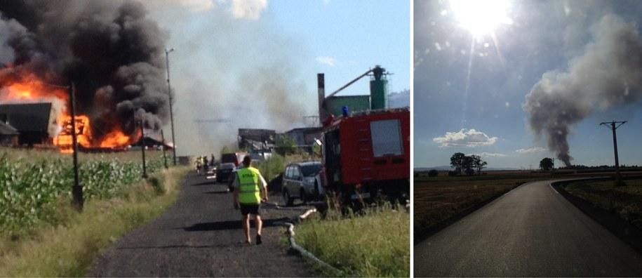 Z pożarem walczy kilkanaście zastępów strażaków /Gorąca Linia RMF FM /