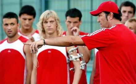 Z prawej trener Zenga /AFP
