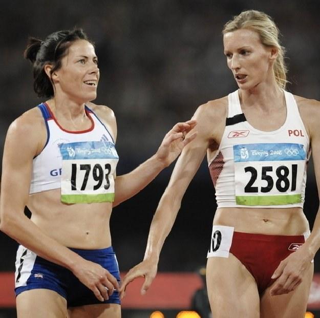 Z prawej Wioletta Frankiewicz /AFP
