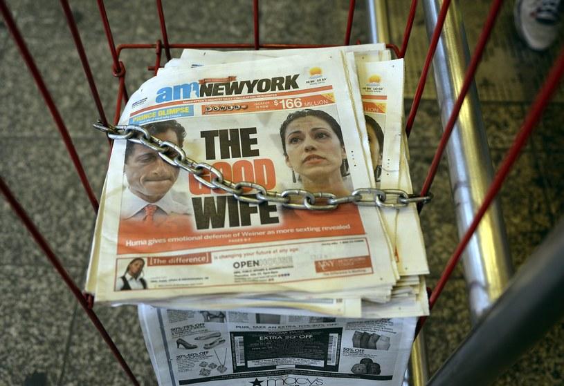 Z sondaży wynika, że wyborcy - tak jak jego żona - byli gotowi wybaczyć Weinerowi. /AFP