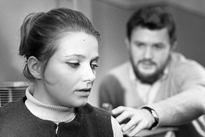 """Z Tadeuszem Borowskim na planie filmu """"Kardiogram"""", 1971 rok /East News"""