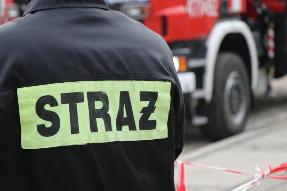Zabarwioną na niebiesko rzekę zauważono w środę. Okoliczni mieszkańcy powiadomili straż pożarną /RMF24.pl