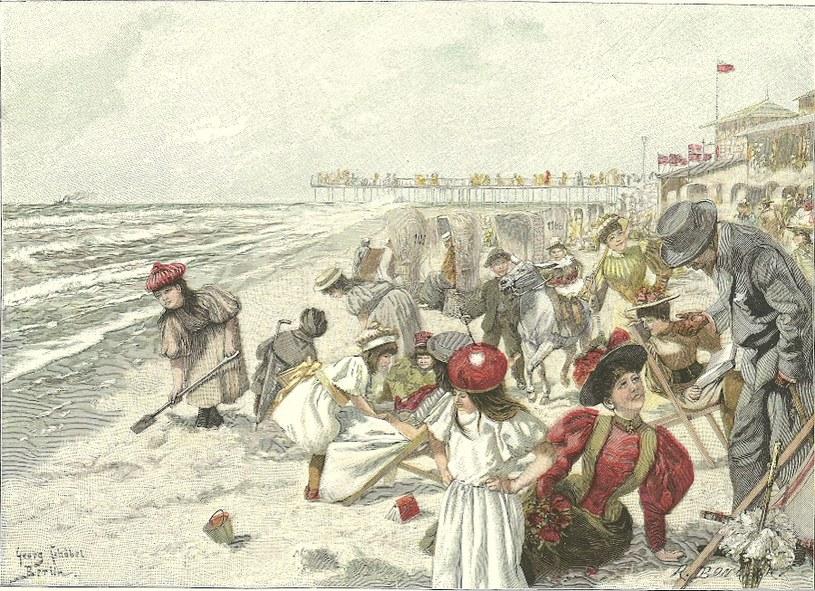 Zabawy na plaży /Agnieszka Lisak – blog historyczno-obyczajowy