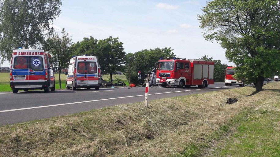 Zablokowano drogę w miejscu wypadku /Gorąca Linia RMF FM /Gorąca Linia RMF FM