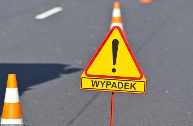 Zablokowany lewy pas ruchu w kierunku Warszawy /Piotr Jędzura /Reporter