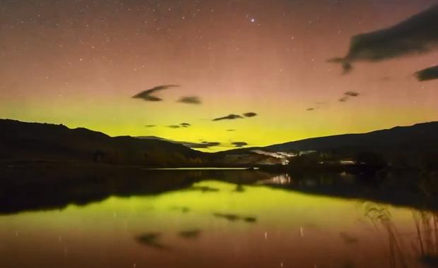 Zachwycająca zorza nad Nową Zelandią