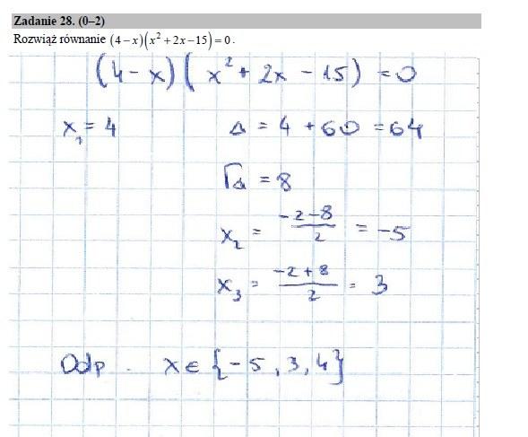Zadanie 28 rozwiązanie /INTERIA.PL