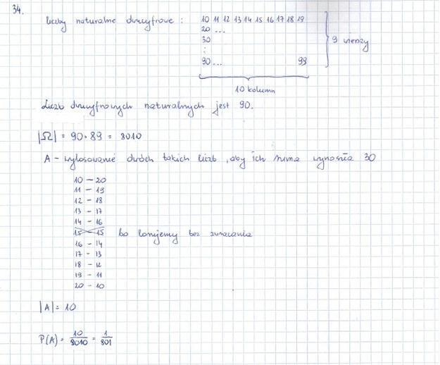 Zadanie 34 rozwiązanie /INTERIA.PL