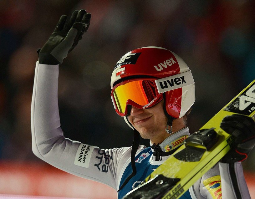 Zadowolony Kamil Stoch podczas konkursu w Zakopanem w tym roku /AFP