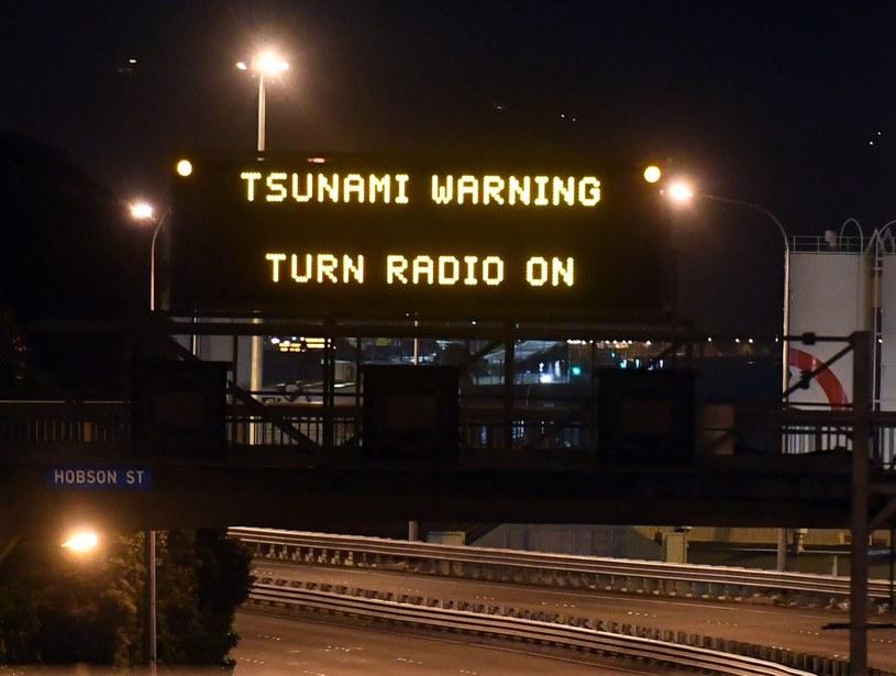 Zagrożenie tsunami w Nowej Zelandii /PAP/EPA