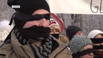 """Zaklejone usta i zasłonięte oczy. Protesty pod hasłem """"Skradziona sprawiedliwość"""""""
