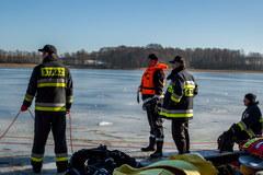 Załamał się lód pod quadem. Strażacy znaleźli ciało mężczyzny