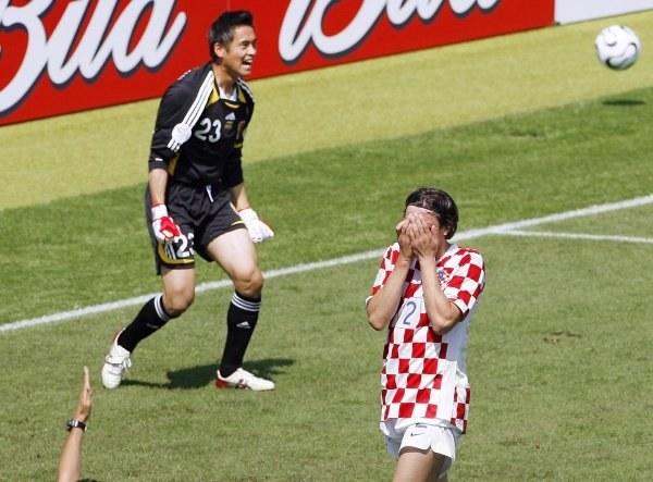 Załamany Srna i szczęśliwy Kawaguchi. Chorwacja-Japonia 0:0 /AFP