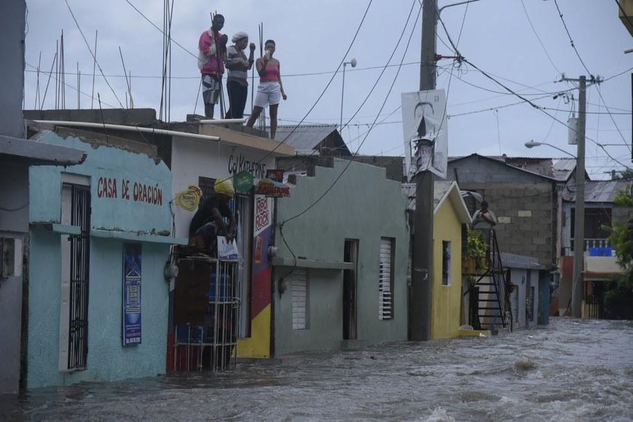Zalane ulice Dominikany /Luis Tavarez  /PAP/EPA