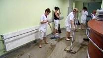 Zalany szpital w Gliwicach