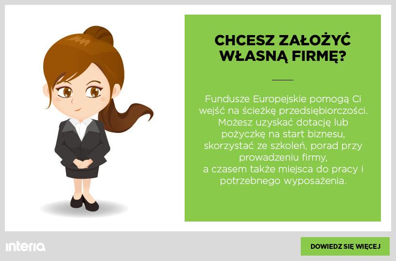 Załóż własny biznes ze wsparciem z funduszy europejskich /INTERIA