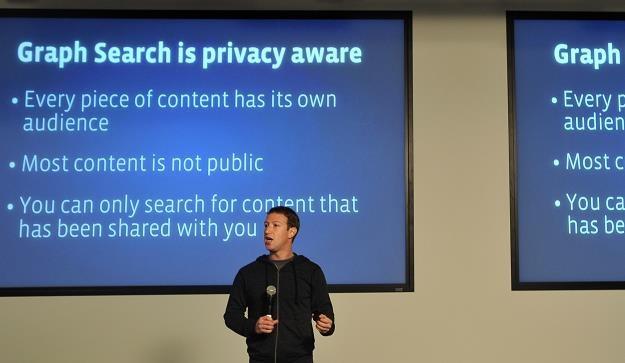 Założyciel Facebooka Mark Zuckerberg przedstawia Graph Search. Menlo Park, Kalifornia, 15 stycznia 2 /AFP
