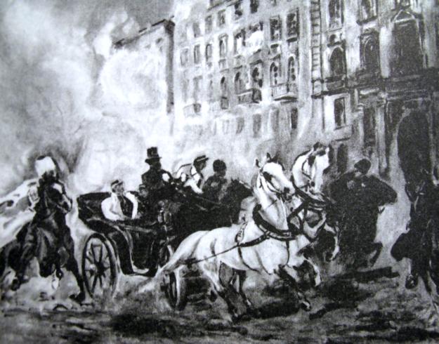 Zamach na carskiego namiestnika Fiodora Berga /Wikimedia