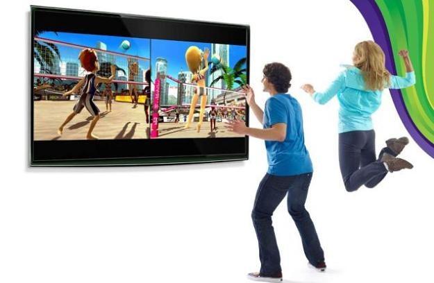 """Zamiast pada - mamy własne rączki i nogi. Siatkówka plażowa w """"Kinect Sport"""" wypadła świetnie /INTERIA.PL"""