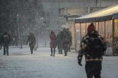 Zamieć śnieżna w Warszawie