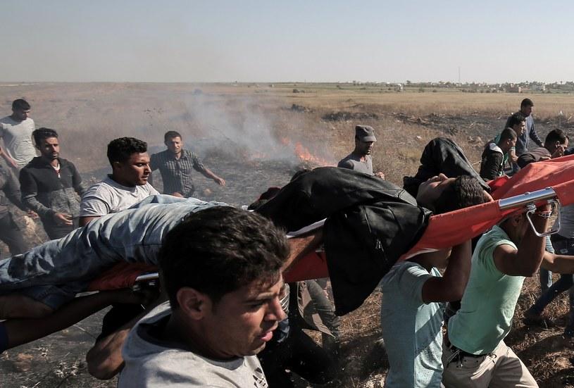Zamieszki w Strefie Gazy /AFP