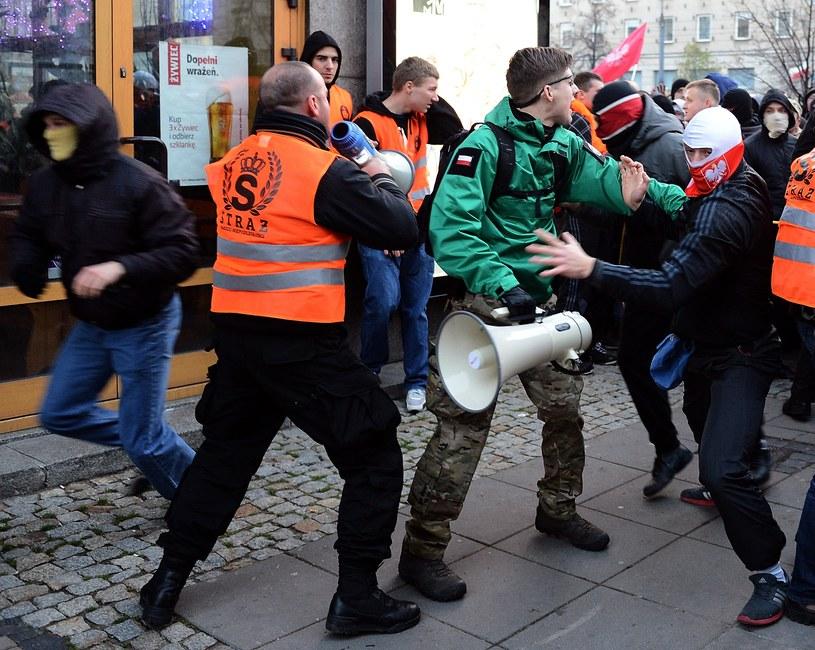 Zamieszki w Warszawie /JANEK SKARZYNSKI/ /AFP