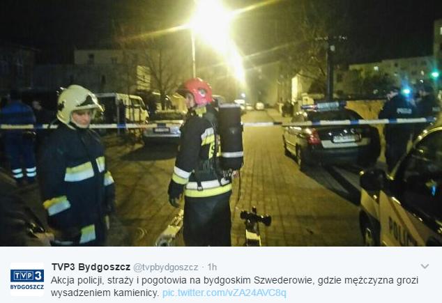 Zamknięta ulica w Bydgoszczy /Twitter
