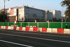 Zamknięto ulicę Prostą w Warszawie