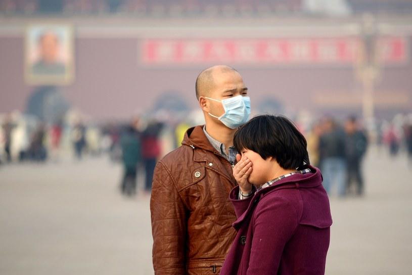 Zanieczyszczenie powietrza w Chinach /AFP