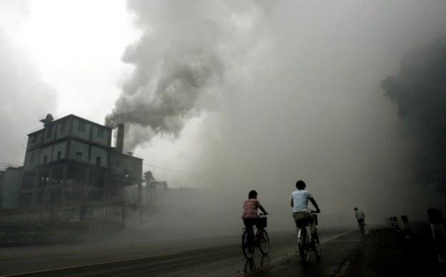 Zanieczyszczenie powietrza w chińskiej prowincji Hebei /AFP