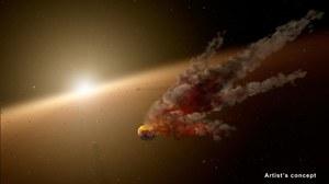 Zaobserwowano kolizję dwóch ogromnych asteroid