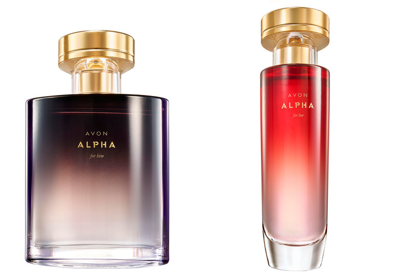 Zapachy Avon Alpha dla niej i dla niego /materiały prasowe