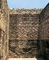 Zapotekowie, Mitla: kamienna mozaika, część zabudowań pałacowych /Encyklopedia Internautica