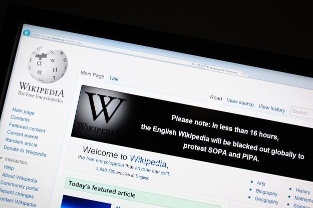 Zapowiedź protestu na stronach Wikipedii /AFP