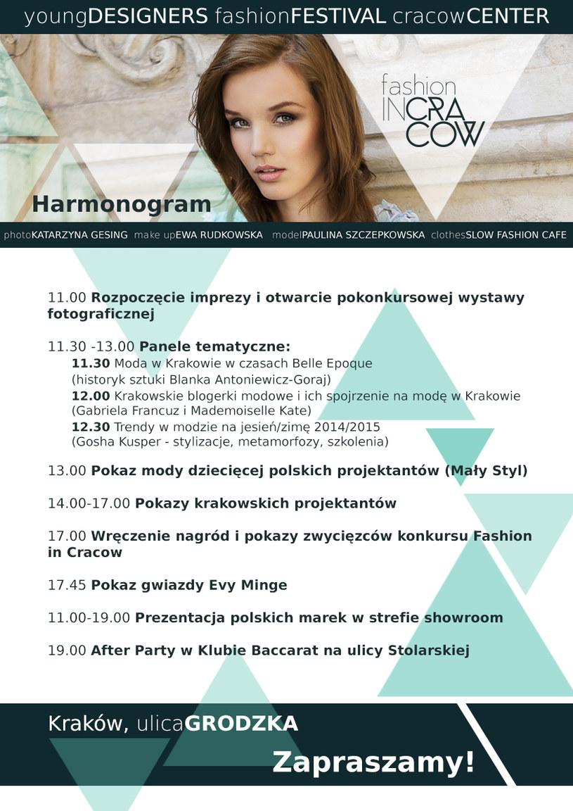 Zapraszamy na Fashion in Cracow /materiały prasowe