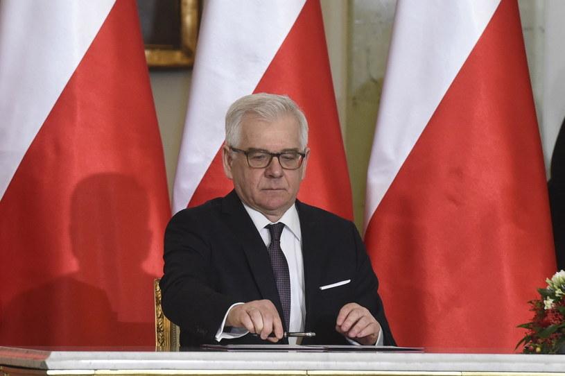 Zaprzysiężony na stanowisko ministra spraw zagranicznych Jacek Czaputowicz /Radek Pietruszka /PAP