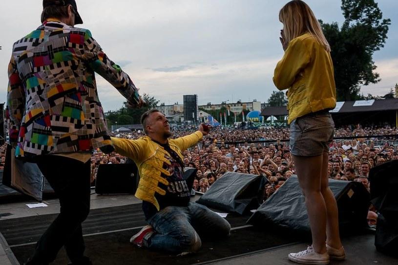 Zaręczyny na scenie Life Festival Oświęcim /Oficjalna strona festiwalu