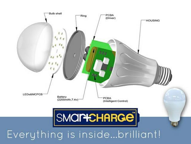 Żarówka SmartCharge posiada wbudowany akumulator. /materiały prasowe
