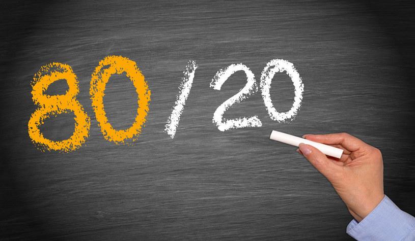 Zasada Pareto sprawdza się nie tylko w biznesie /©123RF/PICSEL