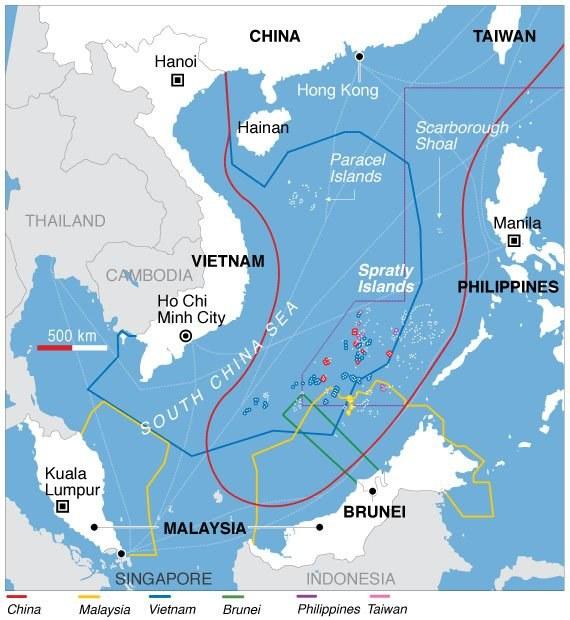 Zasięg sporu terytorialnego na Morzu Południowochińskim /materiały prasowe